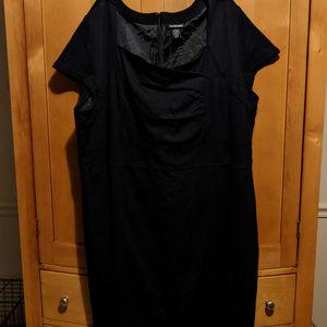 LANE BRYANT Black Stretch Dress Plus Size 28